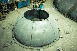 Trial fitting of a smaller segmental tank head