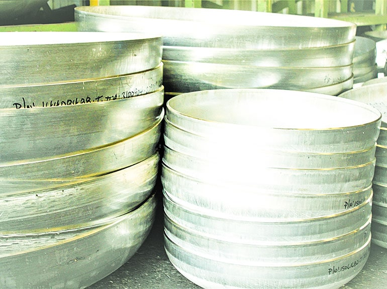 Small diameter Stainless Steel conventional tank heads