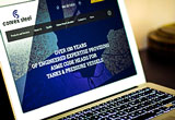 New Conrex Steel Ltd website on laptop