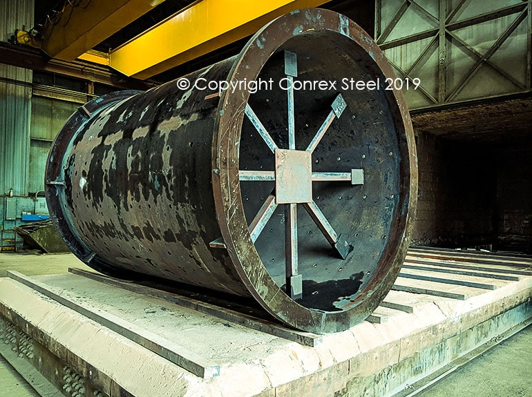 Stress Relieving of large cylindrical flange