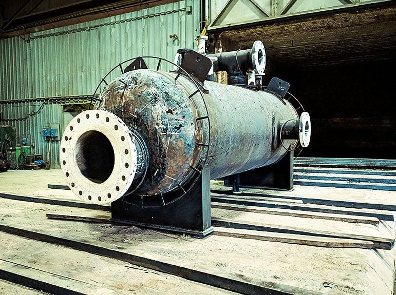 Post weld heat treatment of pressure vessel