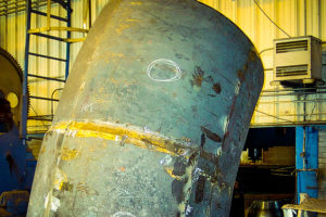 Large Elbow formed in segments by Conrex Steel